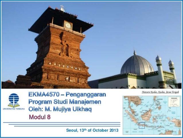 EKMA4570 -  Penganggaran - Modul 8