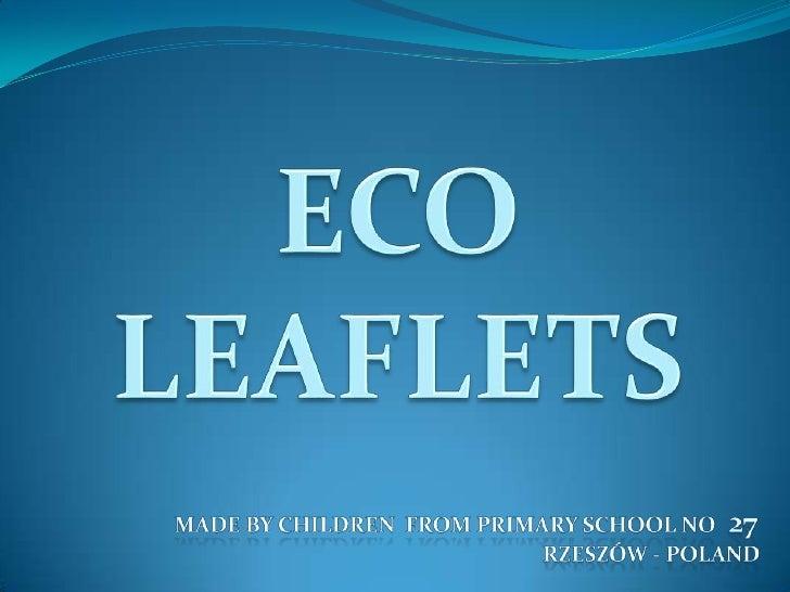 Eko   Leaflets