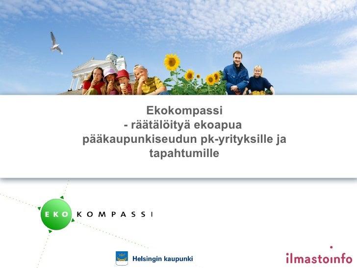 Ekokompassi esittely - Mira Jarkko