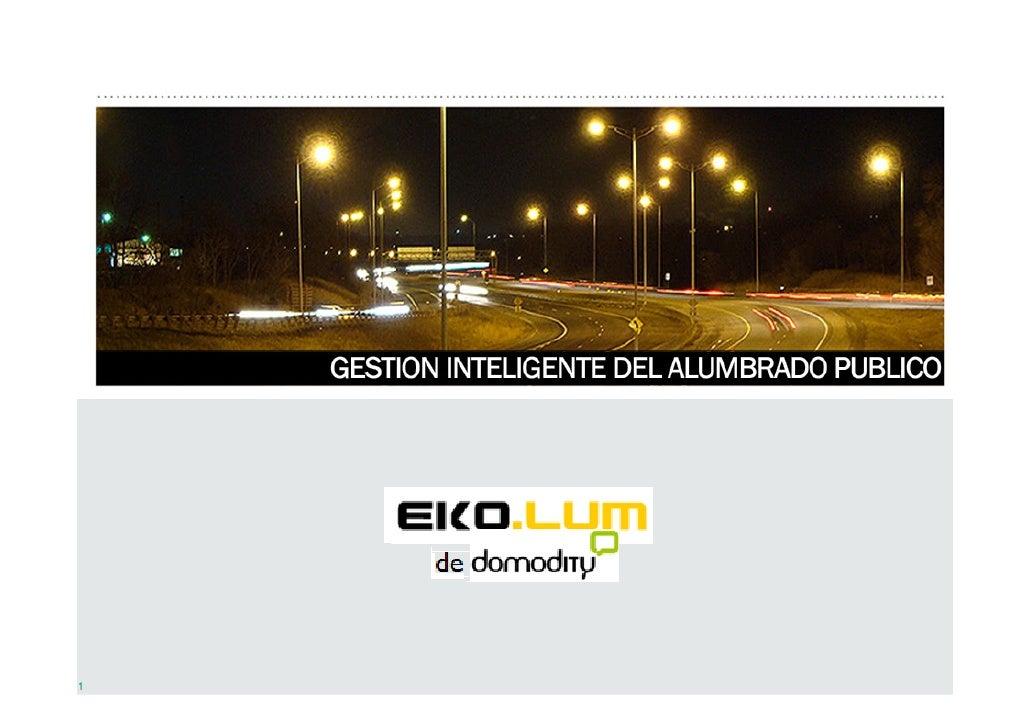 EkoLum : Telegestión alumbrado público
