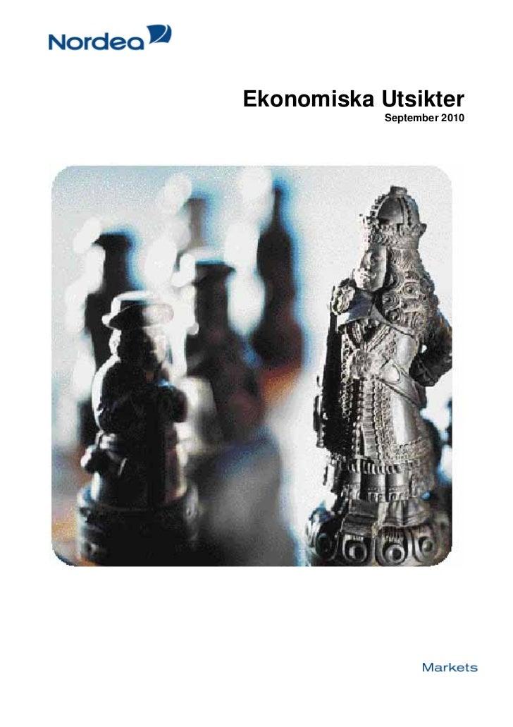 Ekonomiska Utsikter             September 2010