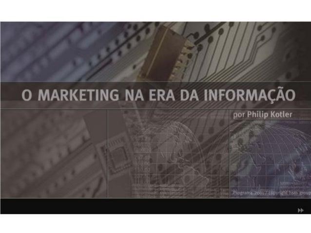 O Marketing na Era da Informação