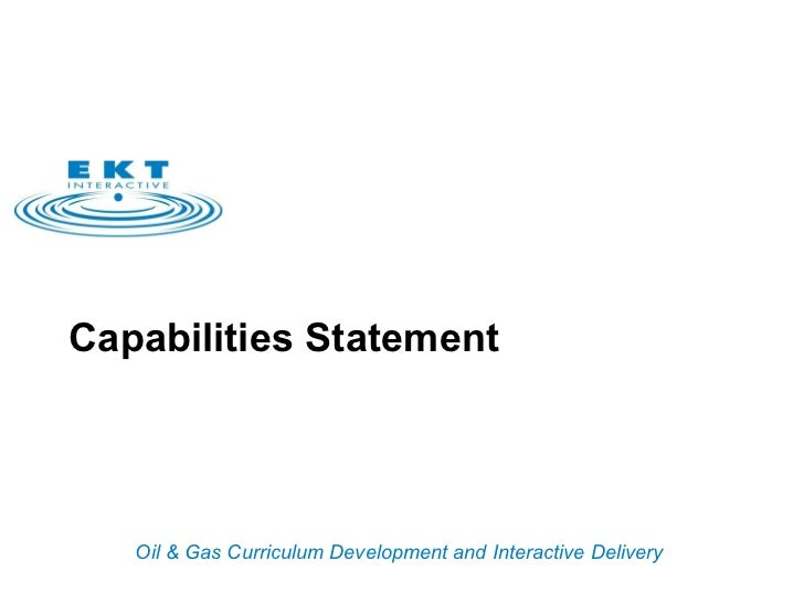 EKTi Capabilities Statement