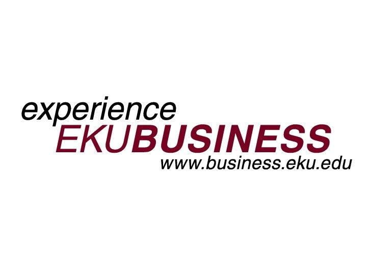 EKUBusiness Advisory Council Presentation