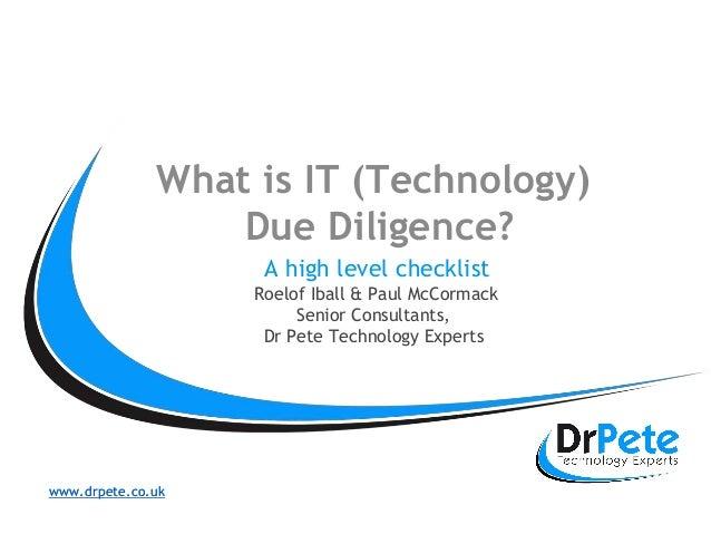 Fantastisch Technologie Due Diligence Vorlage Ideen - Entry Level ...