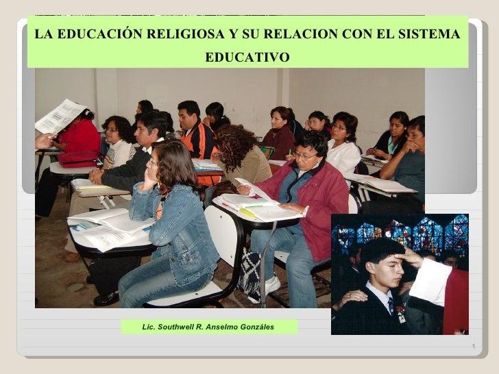 el area de educación religiosa y el sistema educativo