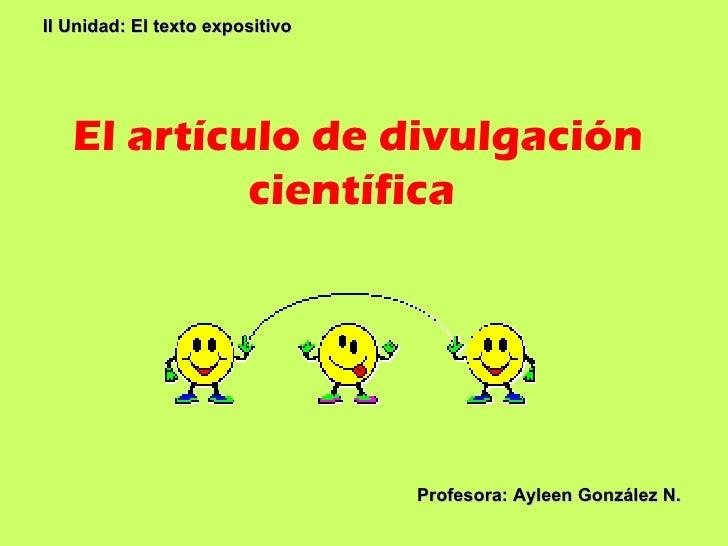 El articulo-de-divulgacion-cientifica