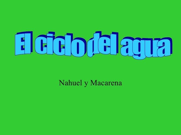 Nahuel y Macarena El ciclo del agua