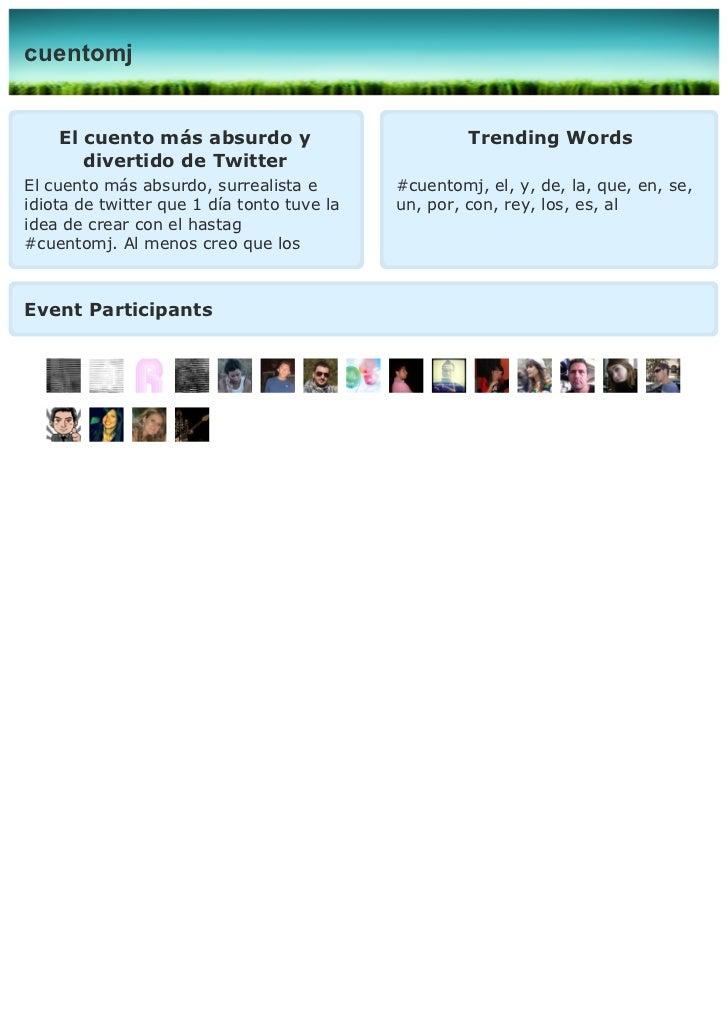 cuentomj    El cuento más absurdo y                          Trending Words       divertido de TwitterEl cuento más absurd...