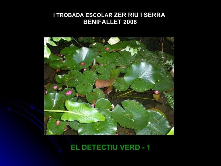 EL DETECTIU VERD - 1 I TROBADA ESCOLAR   ZER RIU I SERRA  BENIFALLET 2008