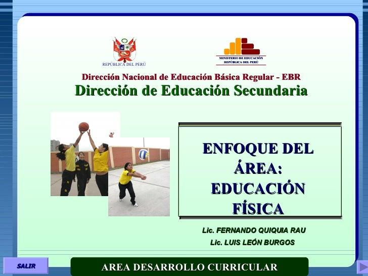 Dirección Nacional de Educación Básica Regular - EBR Dirección de Educación Secundaria MINISTERIO DE EDUCACIÓN REPÚBLICA D...