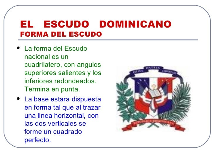 El escudo dominicano for Al jardin de la republica letra