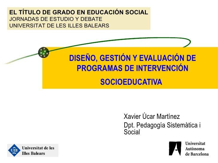 El grado de Educación Social