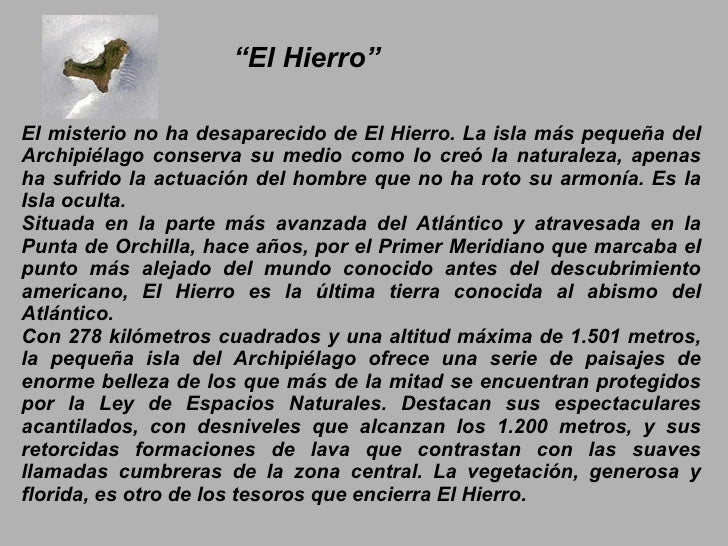 El Hierro.