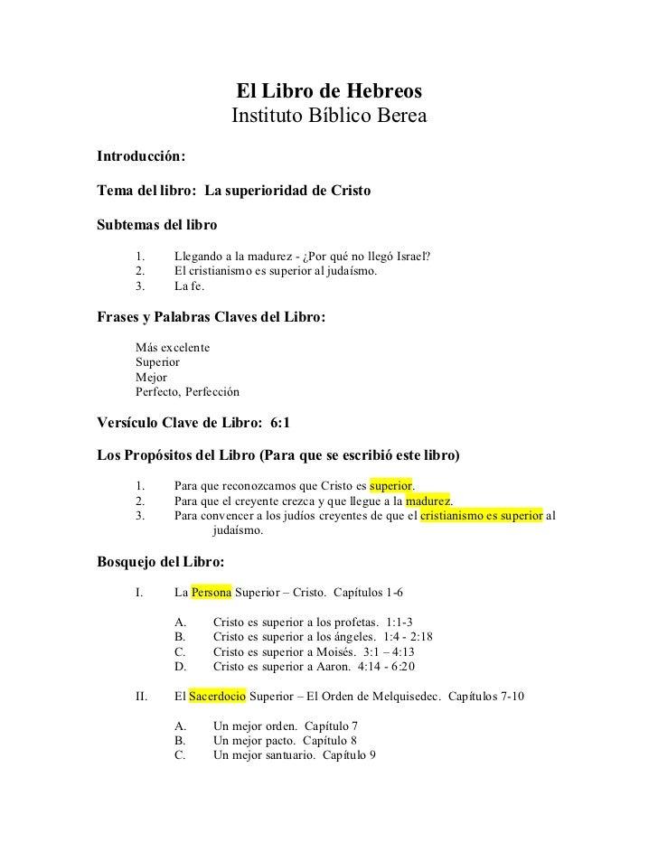 El libro-de-hebreos-maestro