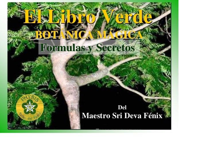 El libro verde botanica magica for Botanica general pdf