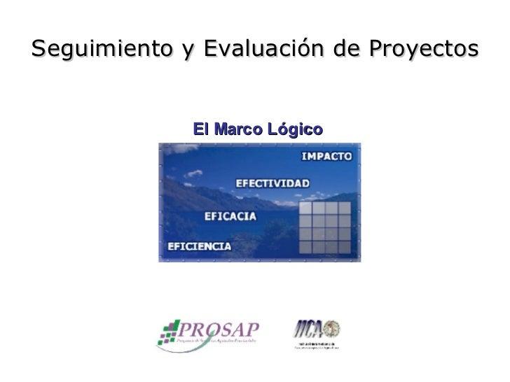 Seguimiento y Evaluación de Proyectos El Marco Lógico