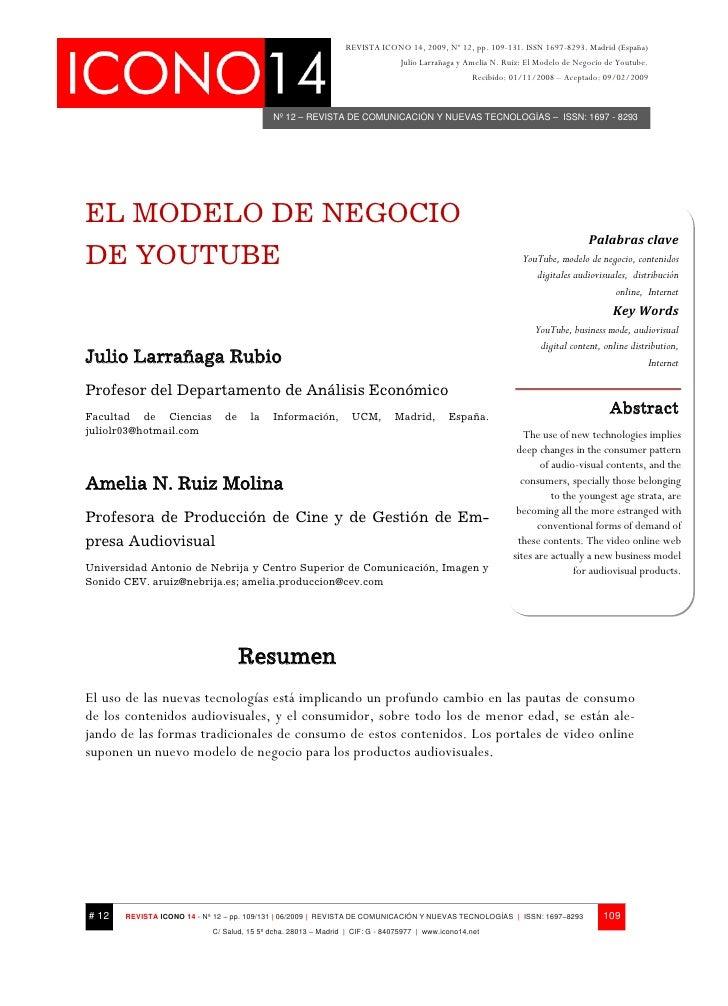 EL MODELO DE NEGOCIO DE YOUTUBE