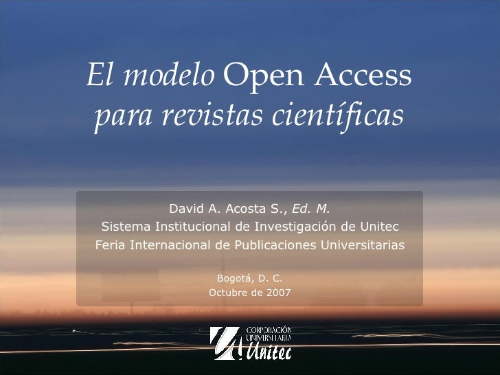 El modelo Open Access para revistas científicas