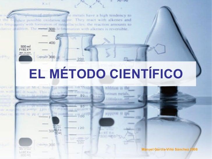 EL MÉTODO CIENTÍFICO Manuel García-Viñó Sánchez 2008