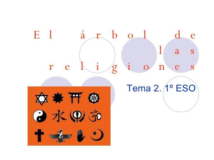 El árbol de las religiones Tema 2. 1º ESO