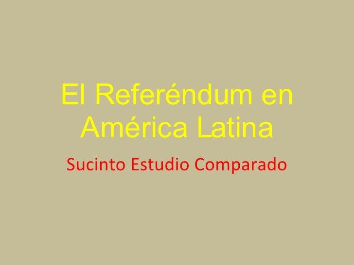 El Referendum En AméRica Latina