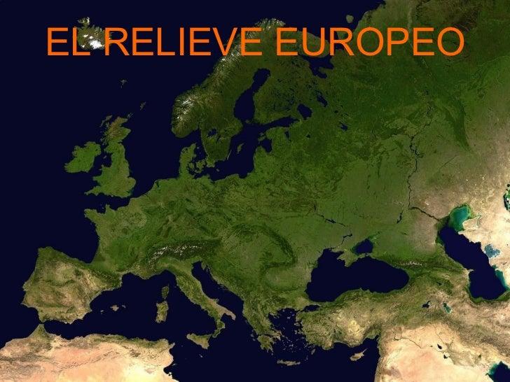 EL RELIEVE EUROPEO