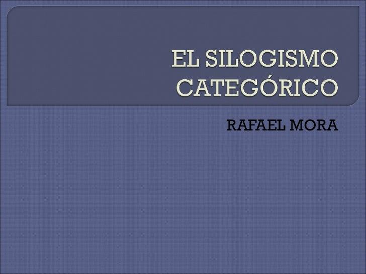 El Silogismo CategóRico