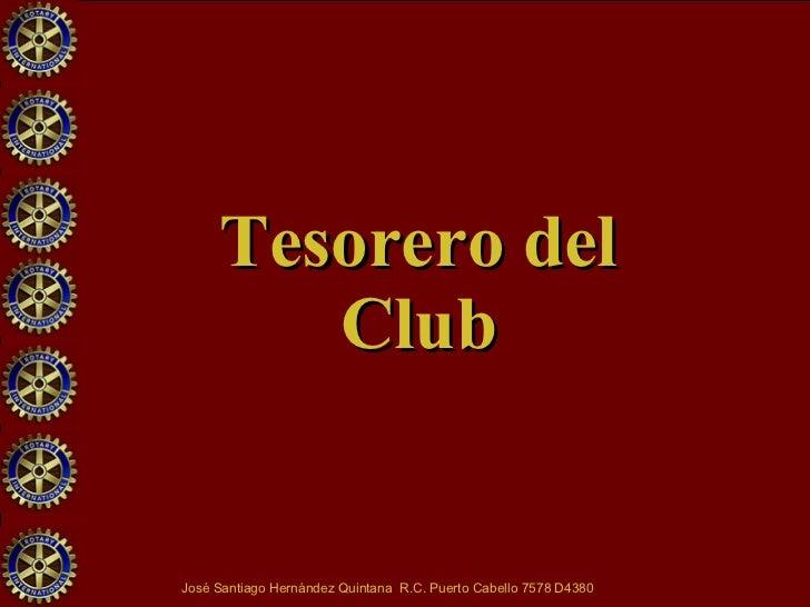 Tesorero del Club