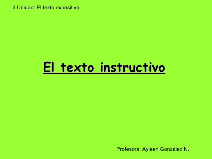 El texto-instructivo