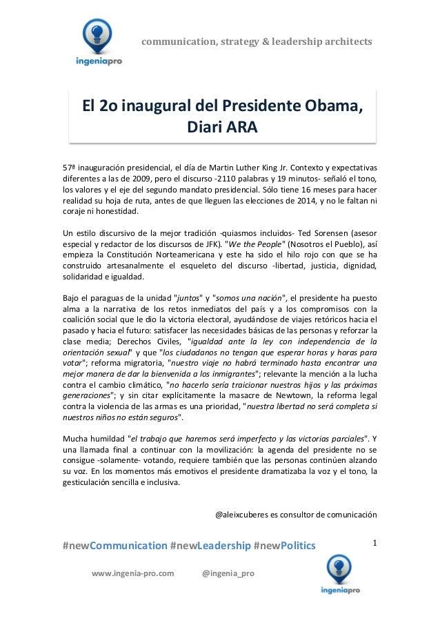 El 2o inaugural del Presidente Obama - Diari Ara