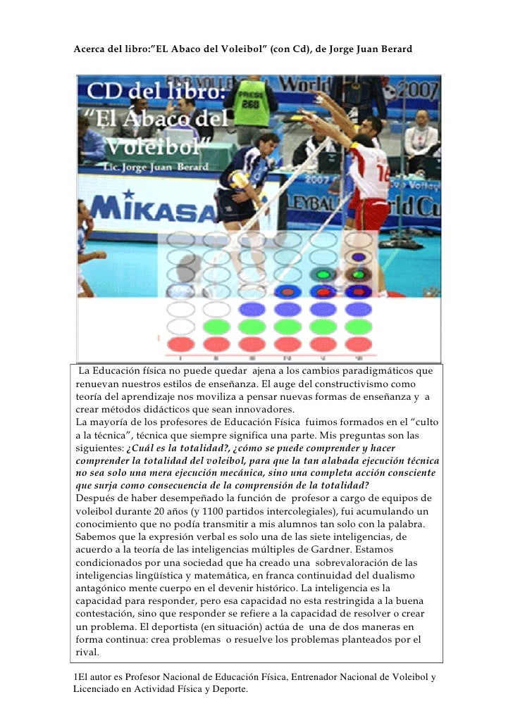 El ábaco del Voleibol, articulo para el ISEF 1