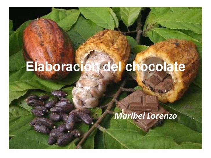 Elaboración del chocolate<br />Maribel Lorenzo<br />