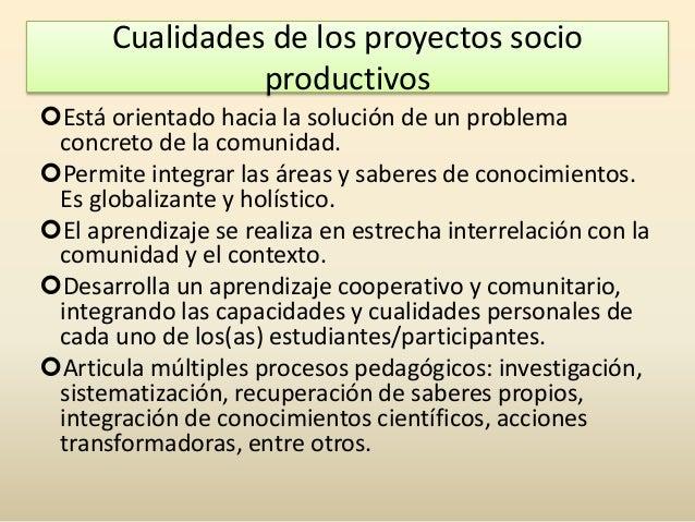 Elaboraci N De Proyectos Socio Comunitario Productivos