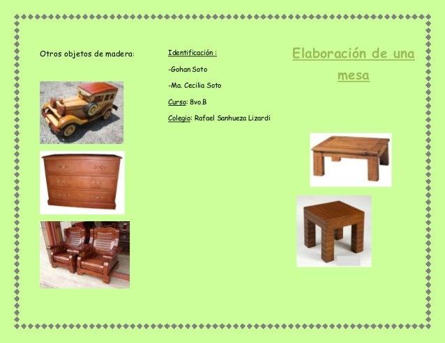 Elaboraci n de una mesa de madera - Fabricacion de muebles de madera ...
