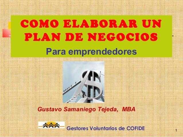 Elaboracion del plan_de_negocios_gustavo_samaniego
