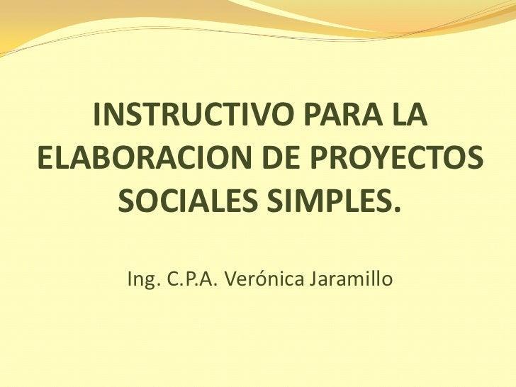 elaboracion de proyectos sociales On proyecto social ejemplo