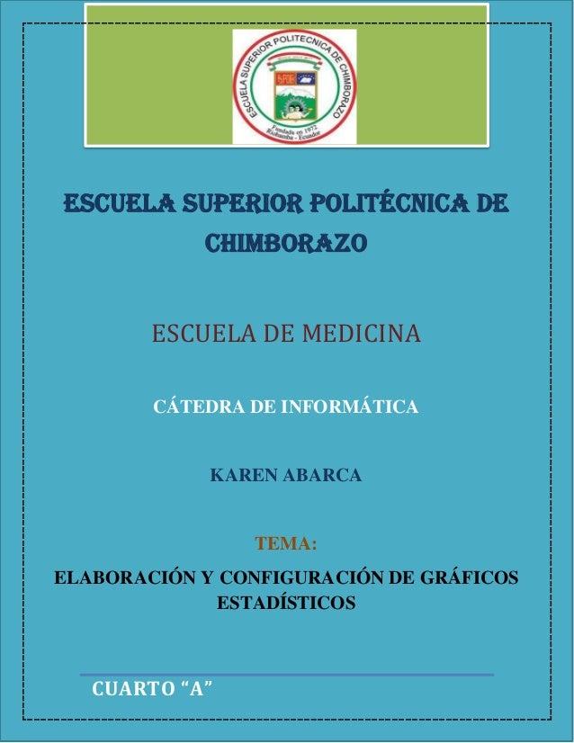 ESCUELA SUPERIOR POLITÉCNICA DE CHIMBORAZO ESCUELA DE MEDICINA CÁTEDRA DE INFORMÁTICA  KAREN ABARCA  TEMA: ELABORACIÓN Y C...