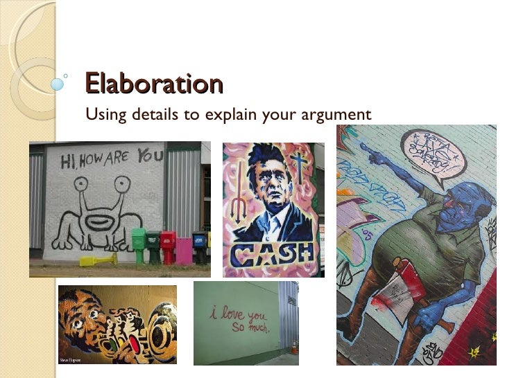 Elaboration foldable