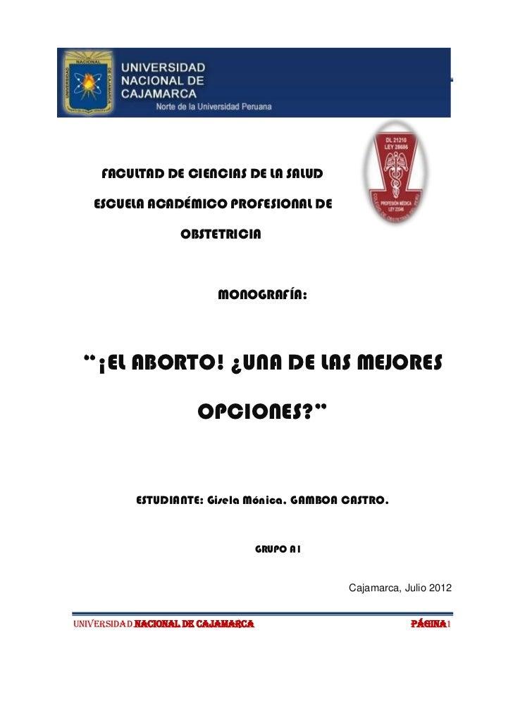 El aborto (monografia)