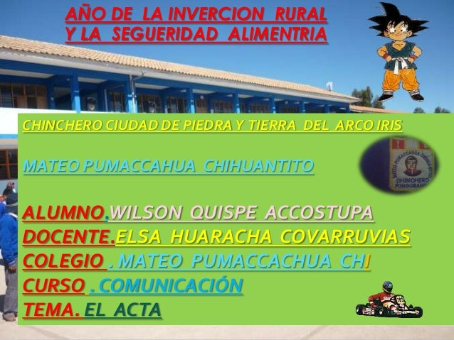 I CHINCHERO CIUDAD DE PIEDRAY TIERRA DEL ARCO IRIS MATEO PUMACCAHUA CHIHUANTITO ALUMNO.WILSON QUISPE ACCOSTUPA DOCENTE.ELS...