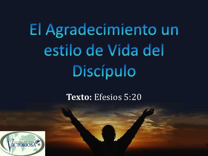 Texto: Efesios 5:20