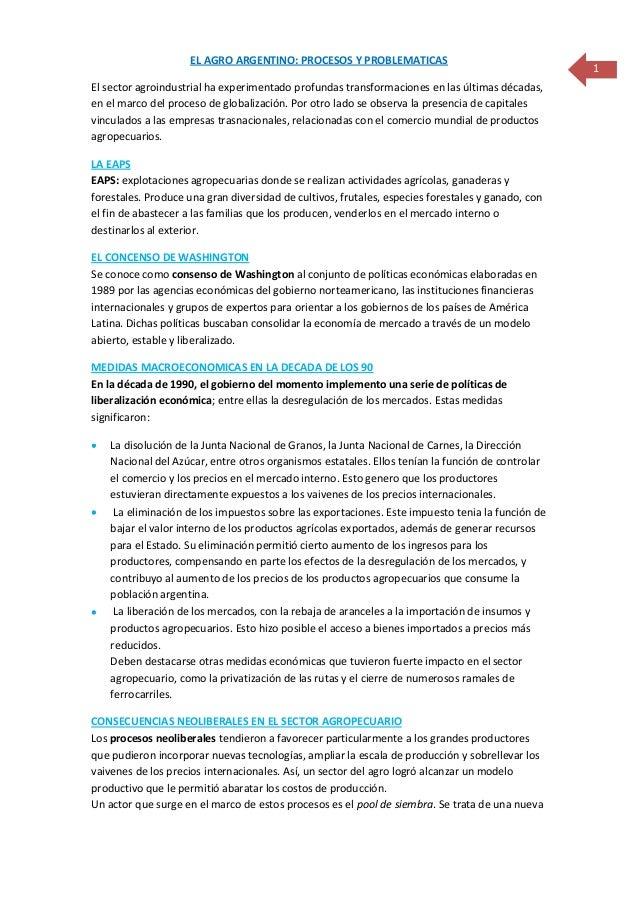 Circuito Yerbatero Argentina : La agricultura argentina
