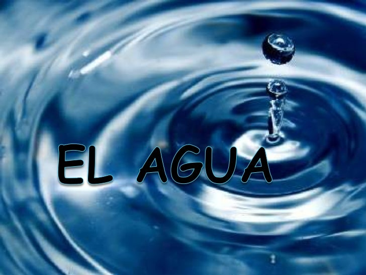 El agua<br />