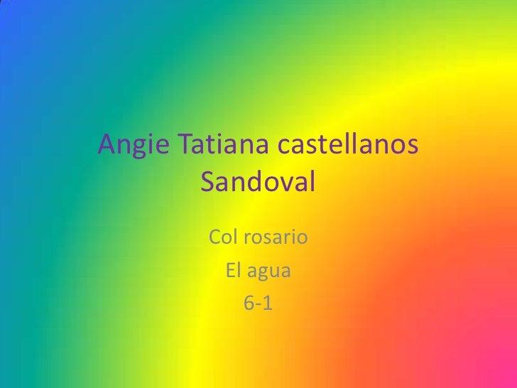 Angie Tatiana castellanos        Sandoval        Col rosario         El agua            6-1