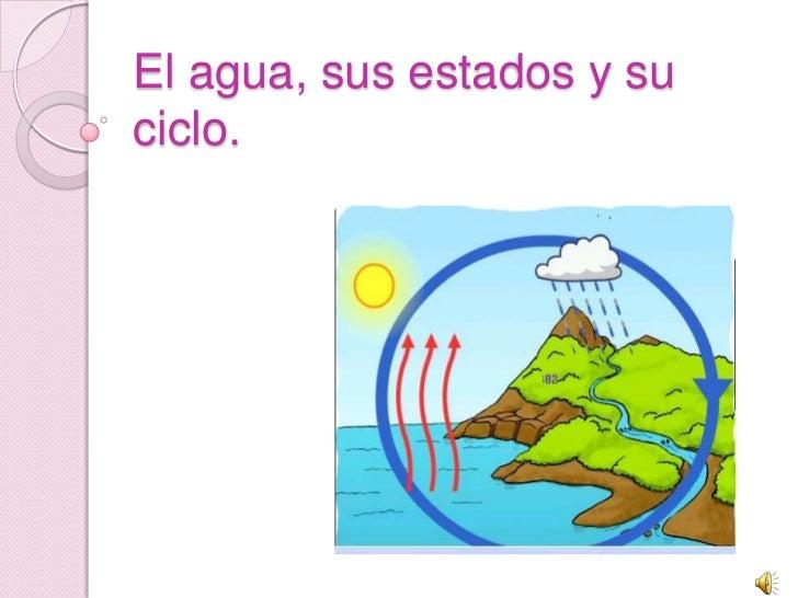 El agua, sus estados y su ciclo