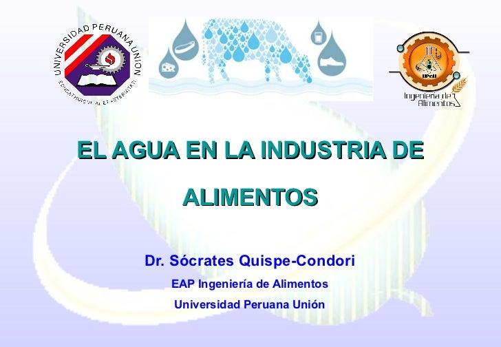 El agua y  industria de alimentos