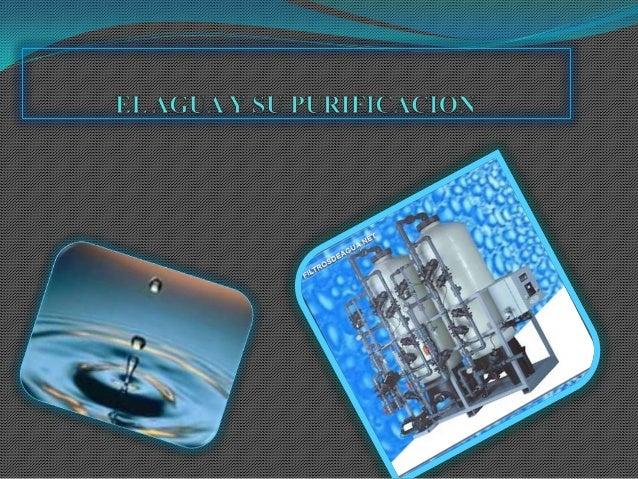 OBJETIVO Comprender la importancia del agua así como los diferentes métodos de su purificación y uso moderado que debe de...