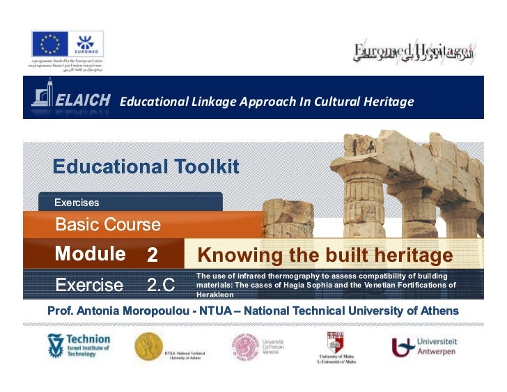 Educational Linkage Approach In Cultural HeritageEducational Toolkit Exercises Basic Course       Cours Module          2 ...