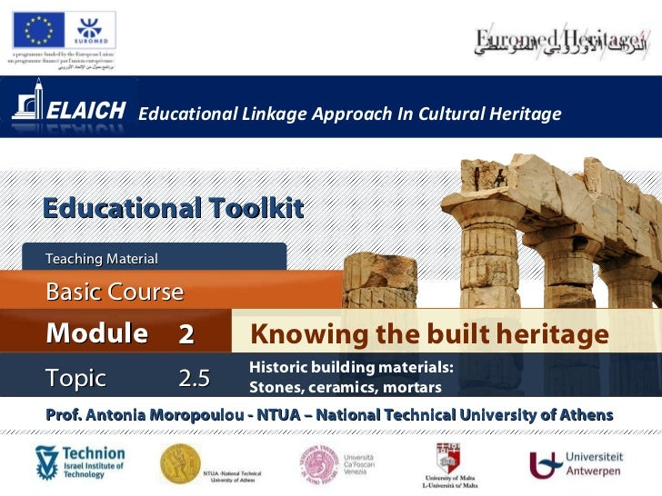 Elaich module 2 topic 2.5 - Historic building materials